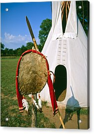 Native American Shield And Spear Acrylic Print