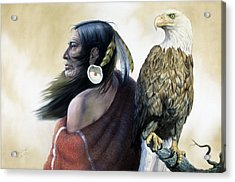 Native Americans Acrylic Print by Gregory Perillo
