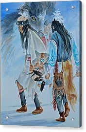 Native Dancers  Acrylic Print by Gracia  Molloy