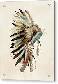 Native Headdress Acrylic Print by Bri B