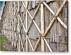 Native Longhouse Acrylic Print by Nick Mares