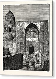 Native Police At The Gate Of The Mosque Of Shah Zindeh Acrylic Print