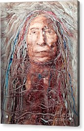 Native Roots Acrylic Print by FeatherStone Studio Julie A Miller