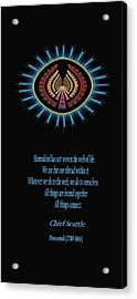 Native Truth - Chief Seattle Acrylic Print