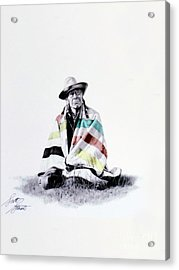 Native West Coast Indian Acrylic Print by Al Bourassa