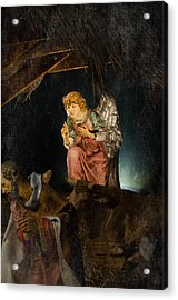 Nativity Angel  Acrylic Print by Susan  McMenamin