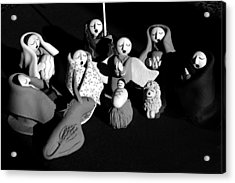 Acrylic Print featuring the photograph Nativity Earthenware by Ron White