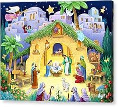 Nativity For Children Acrylic Print