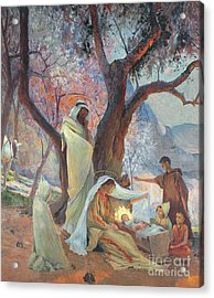 Nativity Acrylic Print by Frederic Montenard