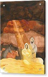 Nativity Acrylic Print by John Meng-Frecker