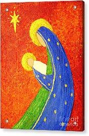 Nativity Acrylic Print by Pattie Calfy