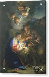 Nativity Scene Acrylic Print by Anton Raphael Mengs