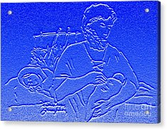 Nativity Scene Acrylic Print by Patricia Januszkiewicz