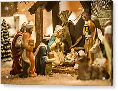 Acrylic Print featuring the photograph Nativity Set by Alex Grichenko