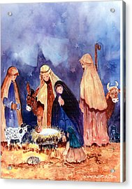 Nativity Acrylic Print by Suzy Pal Powell