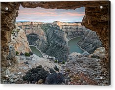 Natural Arch In Bighorn Canyon Acrylic Print by Leland D Howard