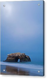 Natural Bridge And Its Reflection Acrylic Print