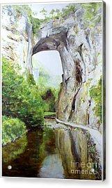Natural Bridge Acrylic Print by J Luis Lozano