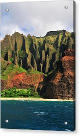 Natural Cathedrals Of Napali Coast Acrylic Print