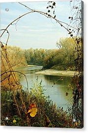 Natural Framing Sacramento River  Acrylic Print by Pamela Patch