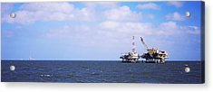 Natural Gas Drilling Platform In Mobile Acrylic Print by Panoramic Images