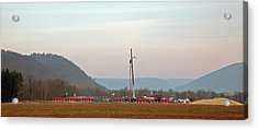 Natural Gas Well Acrylic Print by Jim West