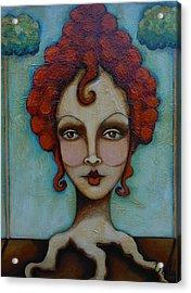 Natural Red Head Acrylic Print