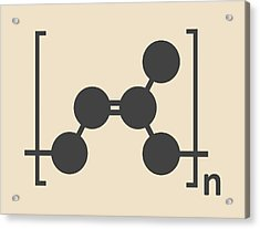Natural Rubber Polymer Molecule Acrylic Print by Molekuul