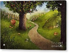 Nature Design - Apple Orchard Acrylic Print by Mythja  Photography