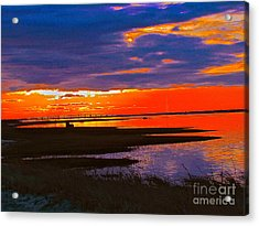 Nature Ends And Begins Acrylic Print by Q's House of Art ArtandFinePhotography