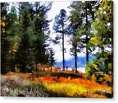 Acrylic Print featuring the painting Nature Escape 1 by Wayne Pascall