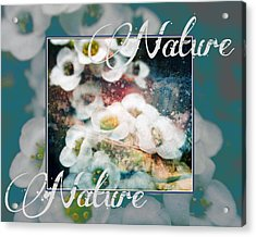Acrylic Print featuring the painting Nature Floral Bouquet by John Fish