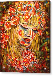 Nature Girl Acrylic Print by Natalie Holland