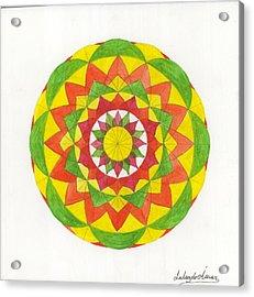 Nature Mandala Acrylic Print by Silvia Justo Fernandez