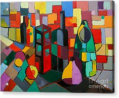 Nature Morte Cubiste Acrylic Print by Mona Edulesco