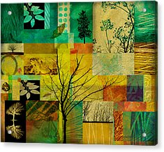 Nature Patchwork Acrylic Print by Ann Powell