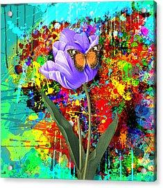 Nature Vs Caos Acrylic Print by Gary Grayson
