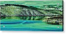 Nature's Artwork Acrylic Print by Gordon W Miller