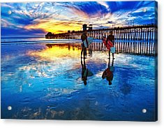Nature's Extremes Acrylic Print by Donna Pagakis