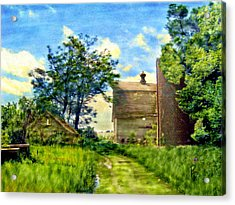 Nature's Farm Reclamation Project Acrylic Print by Ric Darrell