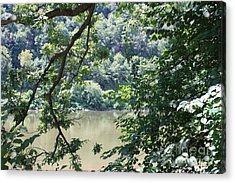 Nature's Frame Of The Delaware Water Gap Acrylic Print by John Telfer