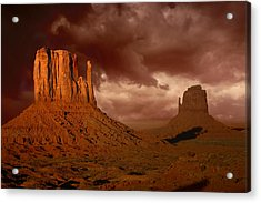 Natures Fury In Monument Valley Arizona Acrylic Print by Katrina Brown