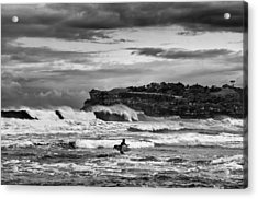 Acrylic Print featuring the photograph Nature's Fury Surfers' Paradise by Photography  By Sai