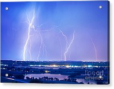 Natures Light Show Over The Boulder Reservoir  Acrylic Print