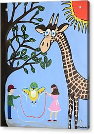 Acrylic Print featuring the painting Nature's Playground by Kathleen Sartoris
