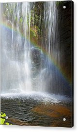 Acrylic Print featuring the photograph Natures Rainbow Falls by Jerry Cowart
