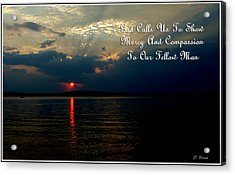 Natures Sunset Acrylic Print by James C Thomas