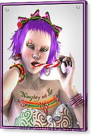 Naughty Xmas Acrylic Print by Frederico Borges