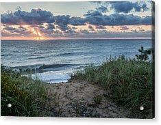 Nauset Light Beach Sunrise Acrylic Print by Bill Wakeley