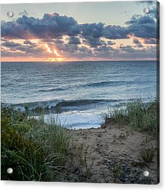 Nauset Light Beach Sunrise Square Acrylic Print